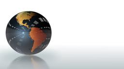 Earth Globe shiny metallic rotating,looping Stock Video Footage