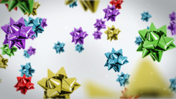 Gift ribbon flying,holiday background Stock Video Footage