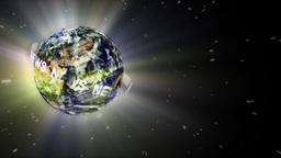 Globe news Stock Video Footage