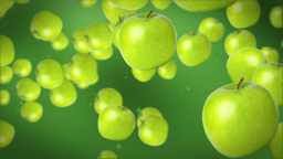 Green apples Stock Video Footage
