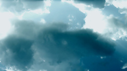 Green Stormy clouds Stock Video Footage