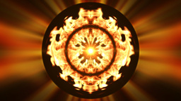 Fire globe, loop Stock Video Footage