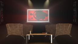 InteriorRoom,TV Countdown Shine,projector sound Stock Video Footage