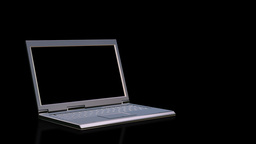 Laptop with blank screen Stock Video Footage