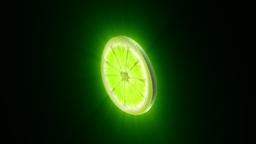 Lime slice,seamless loop Animation