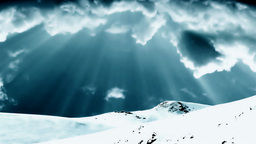 Mountain top and stormy green time lapse clouds Stock Video Footage
