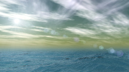 Ocean and sky animation Stock Video Footage