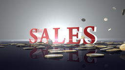 SALES with EURO coins Stock Video Footage