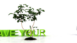 Save your planet , environmental conservation concept Stock Video Footage