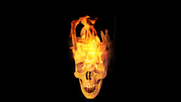 Skull on fire Animation