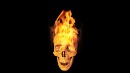 Skull on fire Stock Video Footage