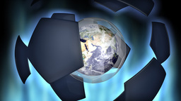 Soccer ball and Earth animation Stock Video Footage