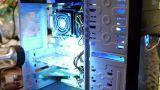 Flashlight Shines on Computer Innards Footage