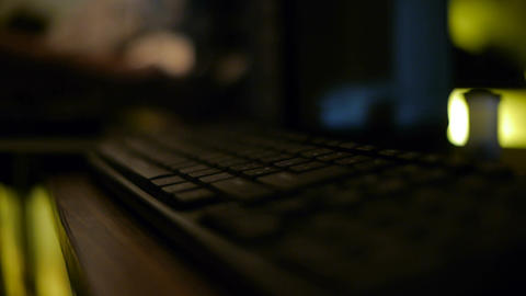 Mouse and Keyboard Moved Stock Video Footage
