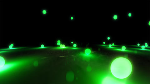 green Bouncing light balls closeup Stock Video Footage