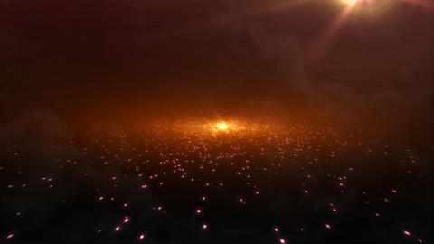 light sky orange galaxy Stock Video Footage