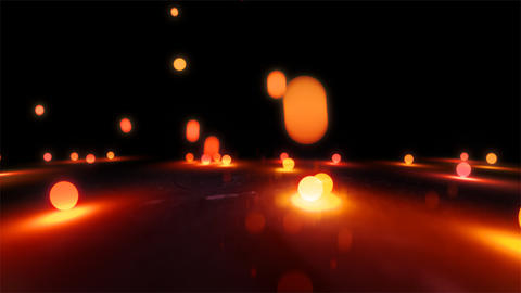 orange Bouncing light balls closeup Stock Video Footage