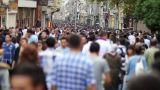 people walking in a crowded street Footage
