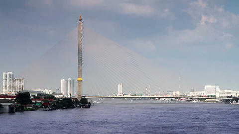 rama VIII bridge in bangkok Stock Video Footage