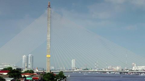 rama VIII bridge in bangkok Stock Video Footage