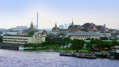 Bangkok river Stock Video Footage