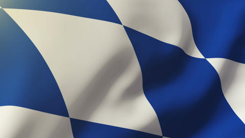 Bavaria flag waving in the wind. Looping sun rises style. Animation loop Animation