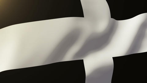Cornwall flag waving in the wind. Looping sun rises style. Animation loop Animation
