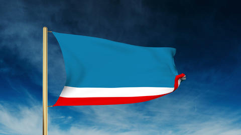 Gagauzia flag slider style. Waving in the win with cloud background animation Animation