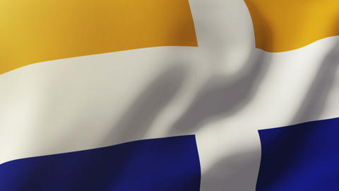 Isles Of Scilly flag waving in the wind. Looping sun rises style. Animation loop Animation