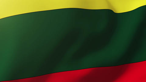 Lithuania flag waving in the wind. Looping sun rises style. Animation loop Animation