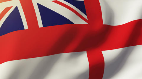 Royal Navy flag waving in the wind. Looping sun rises style. Animation loop Animation