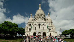 sacre coeur, montmatre paris france Footage
