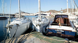 boats moored, marina, harbour Footage