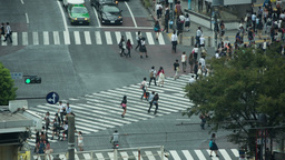 Scramble Crossing Tokyo Pedestrian Interesection Japan Transport People City stock footage