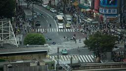 scramble crossing tokyo pedestrian interesection japan transport people city Footage