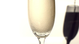 Champagne Being Poured Into A Tall Glass stock footage