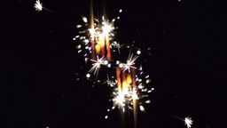 sparkler being ignited in slow motion Footage