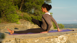 woman yoga meditation peace exercise spiritual Footage