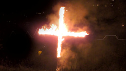 A Burning cross Footage