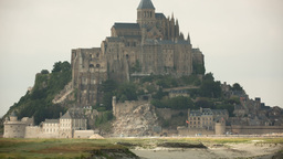 mont saint michel france tourist cathedral Footage