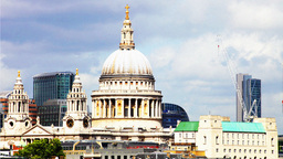 st pauls dome cathedral london building city urban landmark Footage
