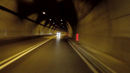 Driving through a tunnel like in an endless curve Footage