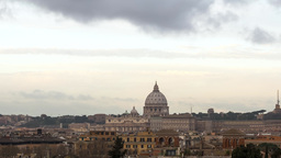 The Dome Of St. Peter's Basilica. Rome, Italy stock footage