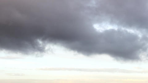 The clouds go in the morning. 1280x720 Footage