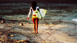 cool girl surfer mexico Footage