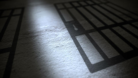 Prison Bars Shadow on a Floor Animation