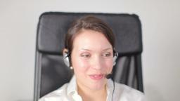 pretty customer service operator or secretary Footage