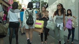 teen teenager takeshita street fashion shopping tokyo Footage