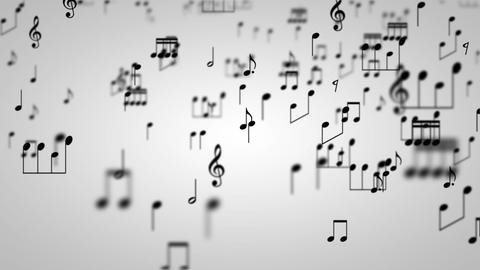 Music Notes Particles 01 Animation