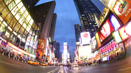 times square new york america urban tourist transport cars Footage